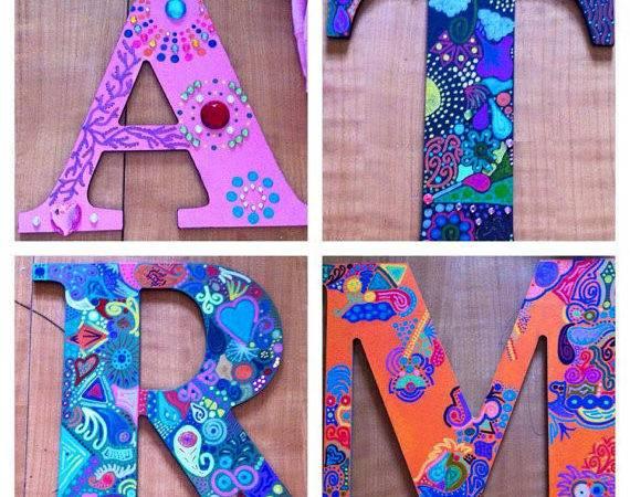 Custom Wood Letters Keepsakekanvas Etsy