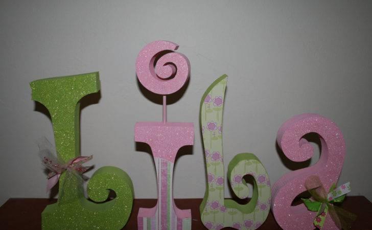 Custom Wood Letters Nursery Girl Kids Room