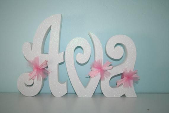 Custom Wood Letters White Letter Set Teen Room Decor Hanging