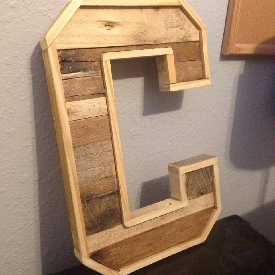 Custom Wood Pallet Letters