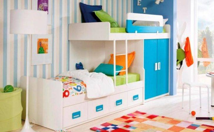 Customisable Staggered Bunk Beds Wardrobe Drawers
