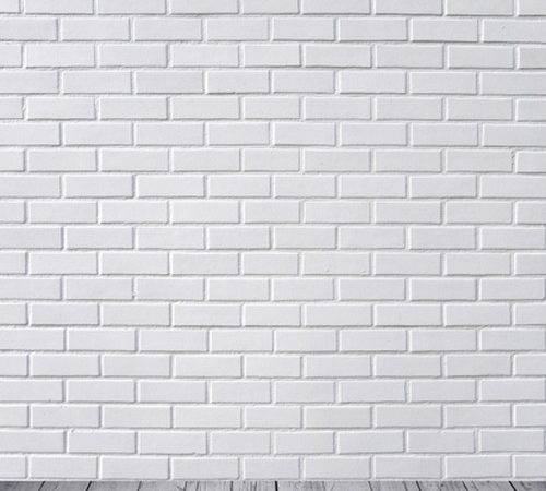Customize Pure White Brick Wall Photography Backdrop Vinyl