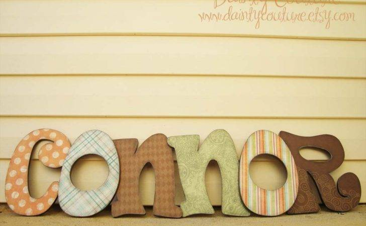 Customized Distressed Wooden Letters Girls Boys