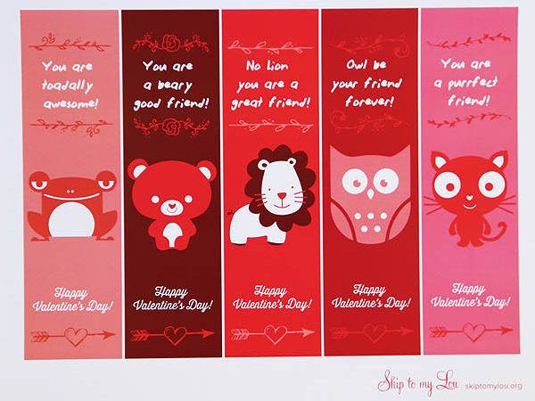 Cut Apart Valentines Punch Hole Top Bookmark Add