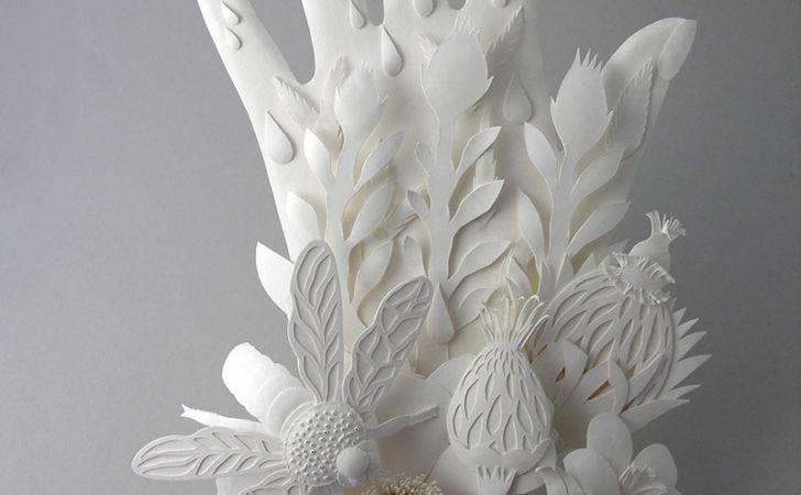 Cut Paper Sculptures Illustrations Elsa Mora Christopher