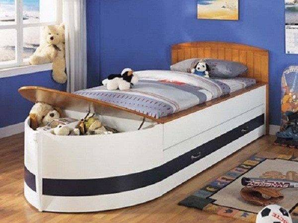 Cute Boat Bed Girls Big Drawer Toys Two