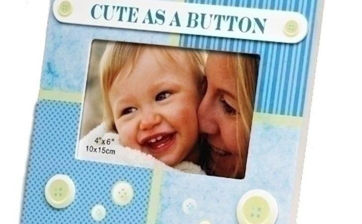 Cute Button Baby Boy Frame Fitzula Gift Shop