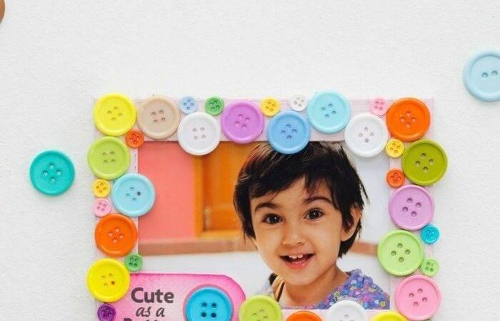Cute Button Diy Frame