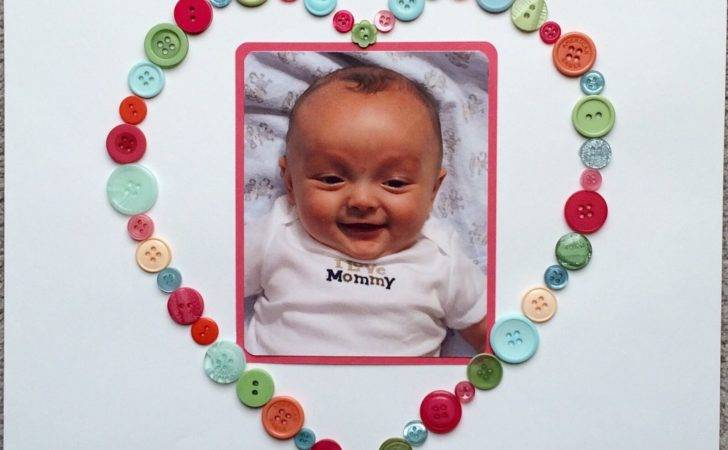 Cute Button Scrapbook Create Heart Frame