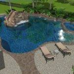 Cypress Custom Pools Lagoon Style Lazy River Feature Tropical