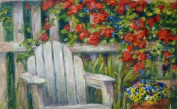 Daily Painting Projects Garden Seat Oil Landscape Art