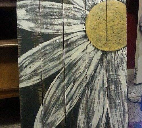 Daisy Pallet Sign Painting Projects Repurposing Upcycling