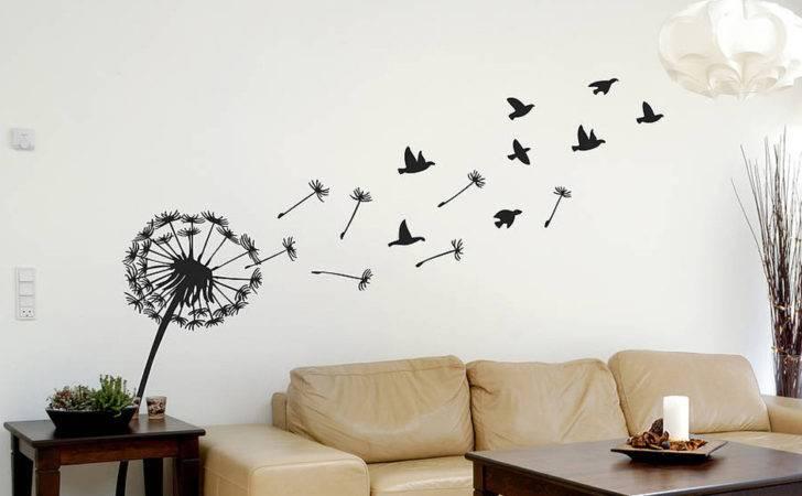 Dandelion Birds Wall Sticker Contemporary Stickers