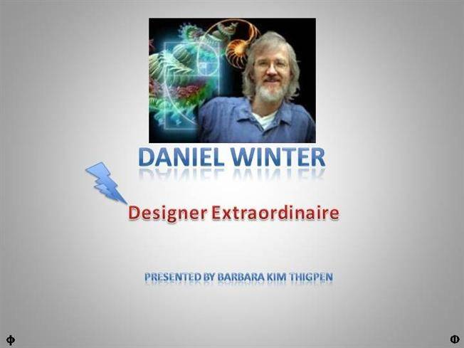 Daniel Winter Designer Extraordinaire Authorstream