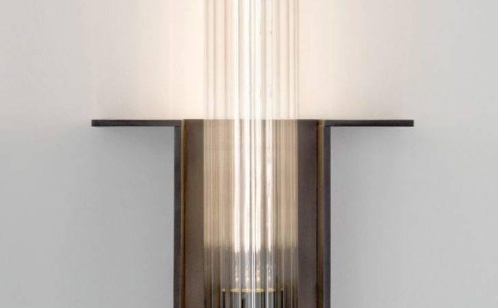 Dark Bronze Glass Cylinder Wall Light Jonathan Browning Inc