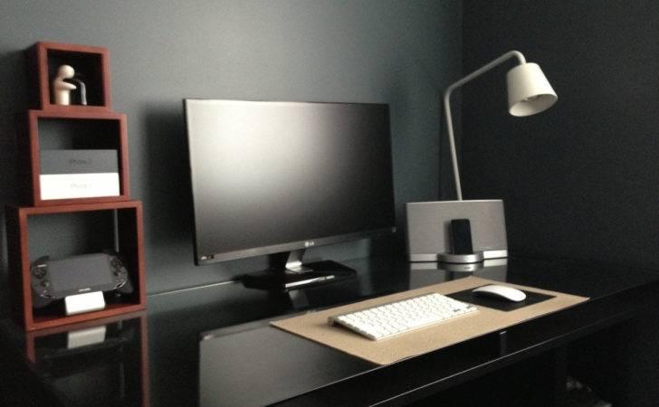 Dark Minimal Apple Setup Mimimal Desk Shelves Mac