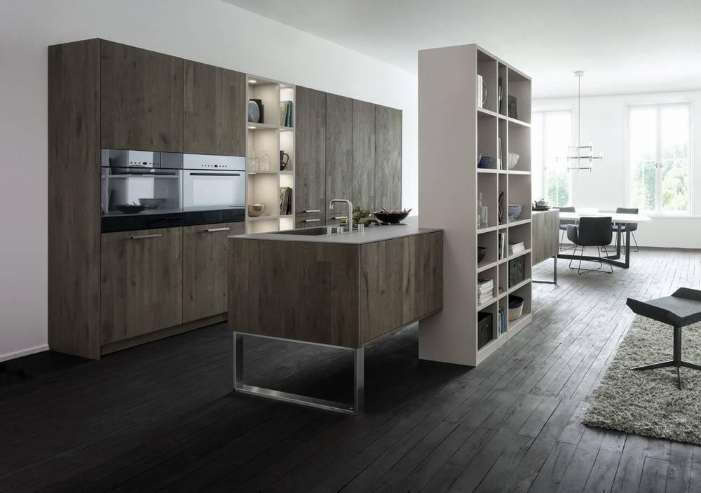 Dark Wood Grey White Kitchen Interior Design Ideas
