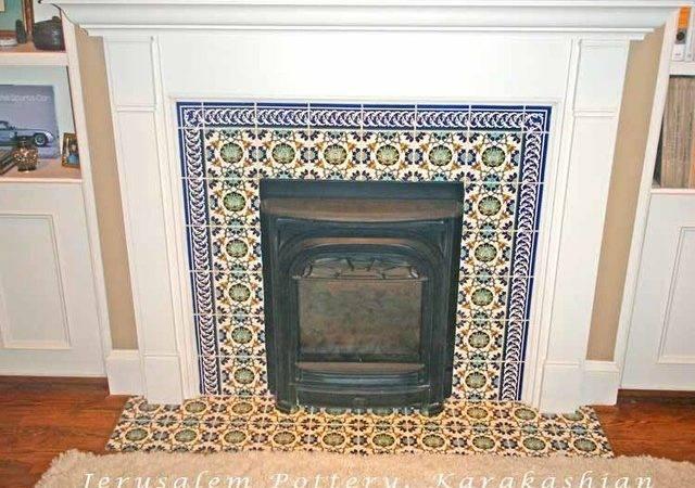David Fireplace Tile Mediterranean Living Room Tel Aviv