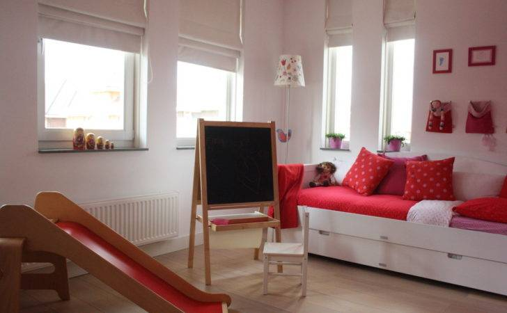 Daybed Girls Rooms Kids Pink Playroom Red Slide Thank Holly