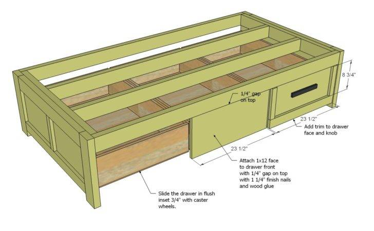 Daybed Storage Woodworking Plans Woodshop