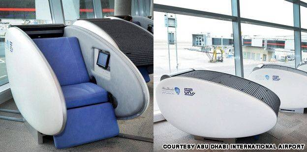 Debut Airport Terminal Futuristic Sleeping Pods
