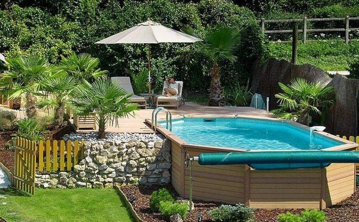 Deck Above Ground Swimming Pools Designs Small Yard