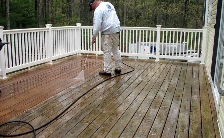 Deck Before After Staining Massachusetts Think Painting