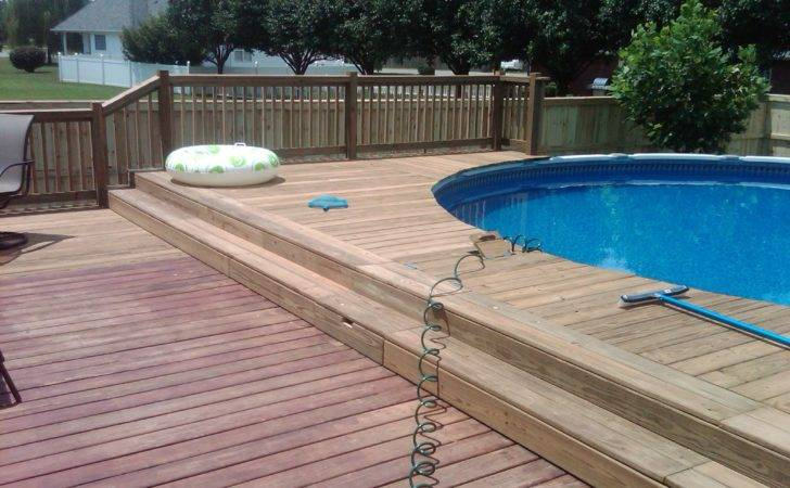 Deck Design Ideas Above Ground Pools Swimming Pool