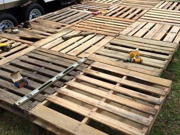Deck Flooring Pinterest Pallet Decking Patio