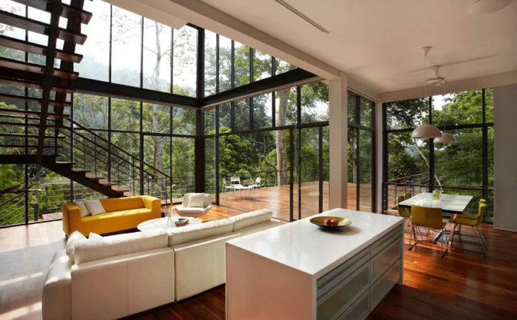 Deck House Situated Small Village Named Janda Baik