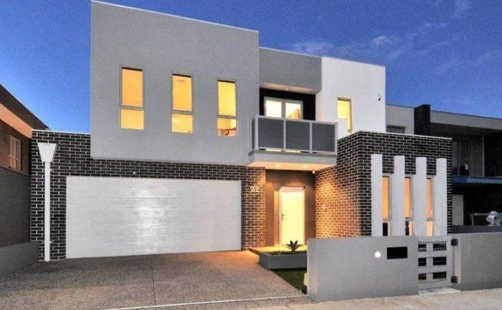 Decking Ideas Modern House Facade Home Architecture