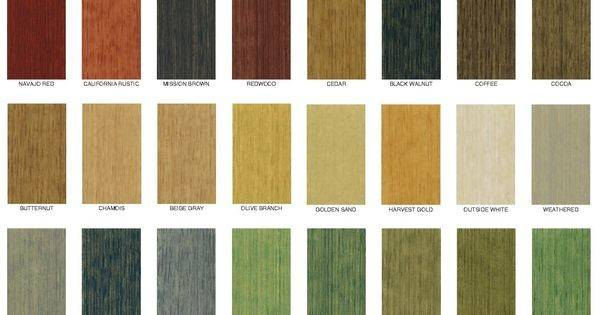 Decking Stain Semitrans Color Chart Cool Ideas Pinterest