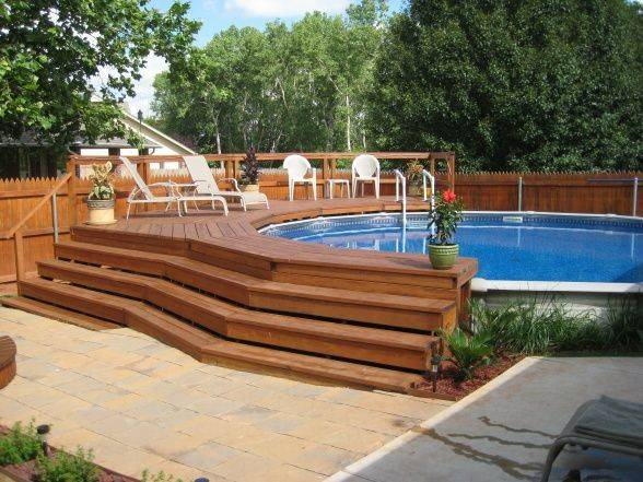 Decks Design Pool Ideas Deck Ground Pools