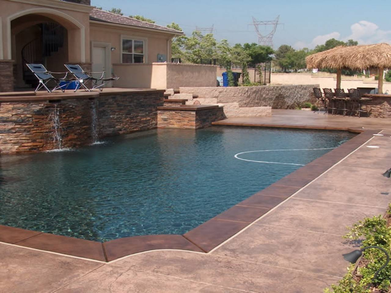 Decks Grey Concrete Pool Deck Color Colors