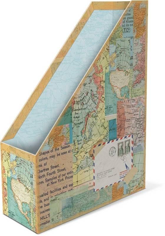 Decor Decorative Storage World Atlas Punch Studio Magazine Holder