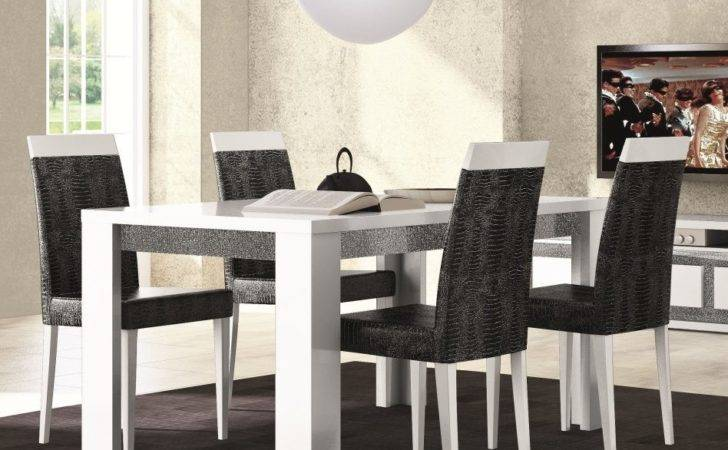 Decor Dining Black White Room Furniture Red