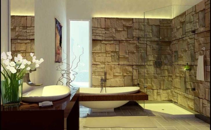 Decorate Your Bathroom Stones Home Designs Project