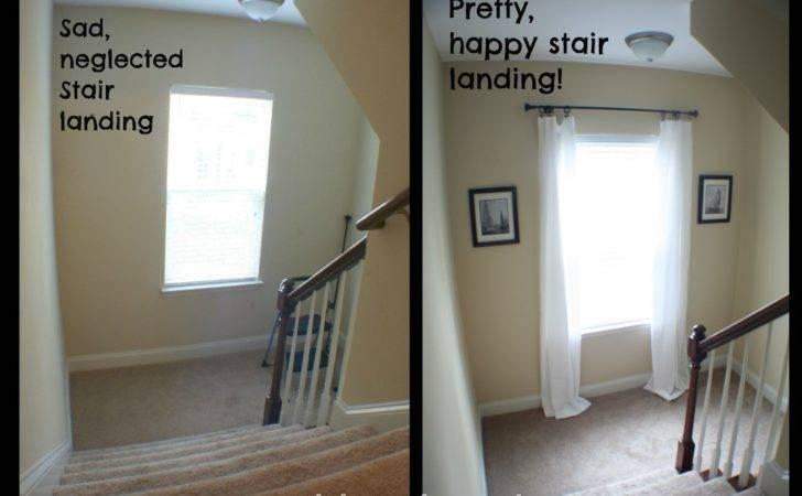 Decorated Stair Landing Hanging Tip Happier
