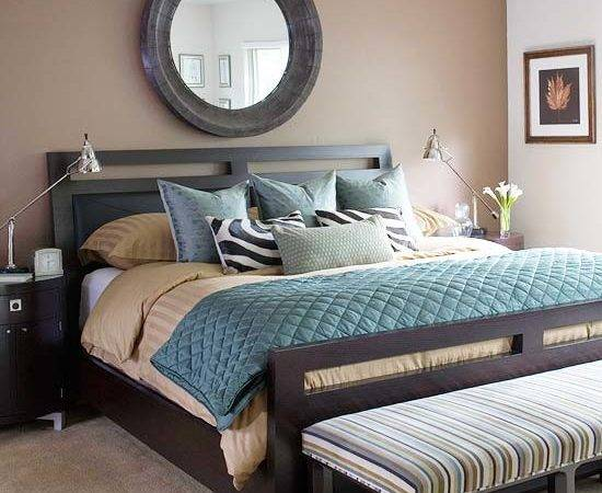 Decorating Ideas Blue Brown Bedroom
