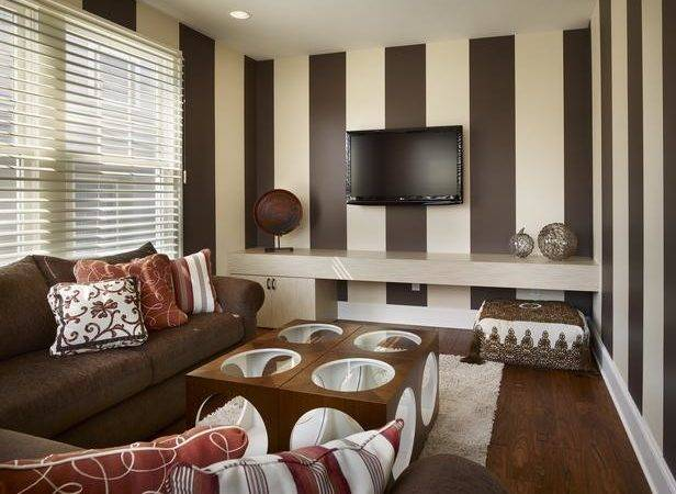 Decorating Ideas Front Room Brown Red