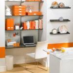 Decorating Orange Fabrics Frames Furniture
