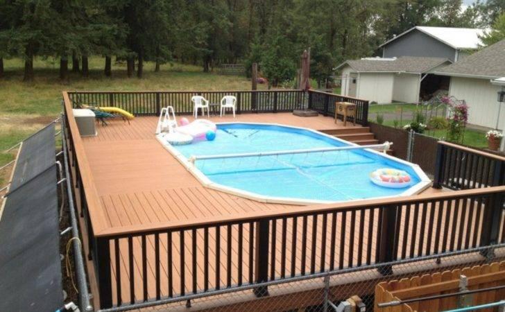Decorating Swimming Pool Deck Design Ideas Backyard Wood