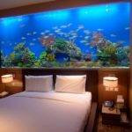 Decoration Marvelous Fish Tank Bedroom Wall Design Small Table