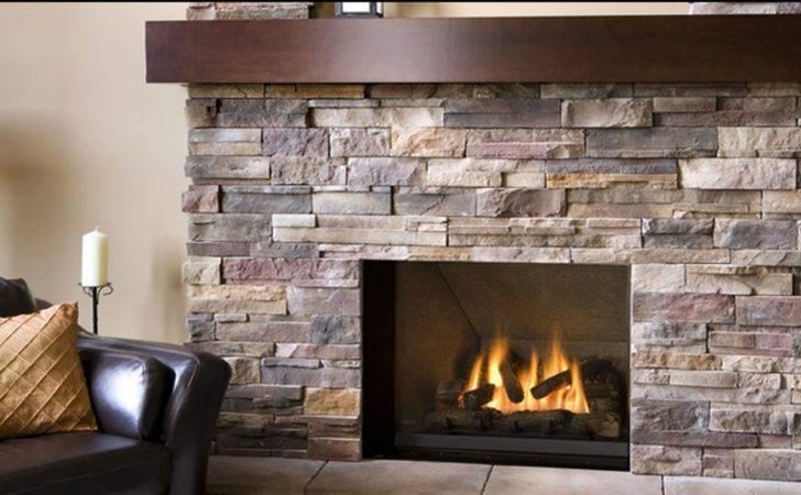 Decoration Stacked Stone Fireplace Electric Insert Masonary