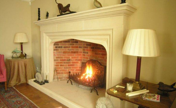 Decorative Big Fireplace Interior Large Scale