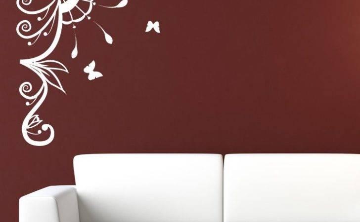 Decorative Corner Butterflies Wall Stickers Art Decal