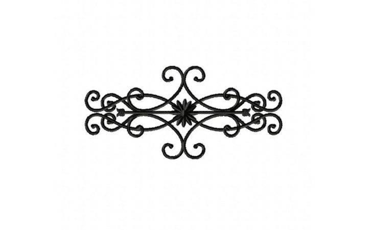 Decorative Floral Wrought Iron Decor Machine Embroidery Design