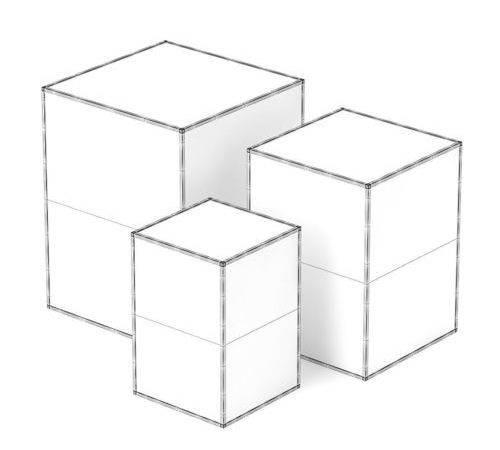 Decorative Glass Cubes Model Max Obj Fbx