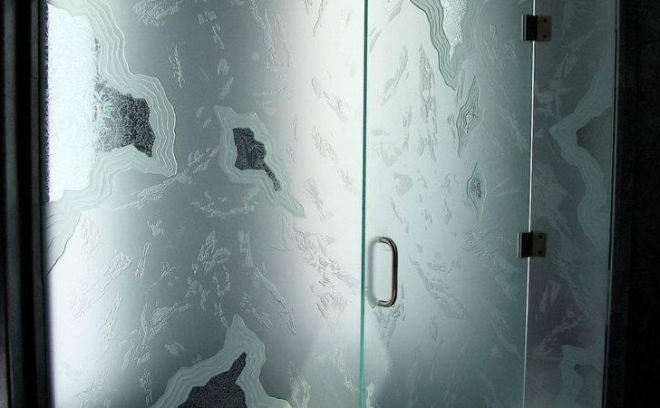 Decorative Glass Shower Doors Designs Bathroom