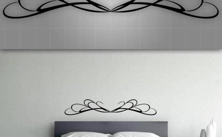 Decorative Headboard Wall Decal Bedroom Decor
